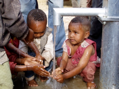 Kids at Pump, Ethiopia